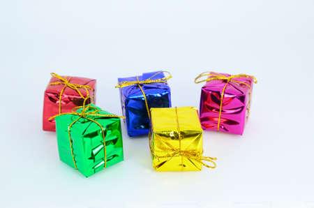 boxs: Mini gift boxs colorfull Stock Photo