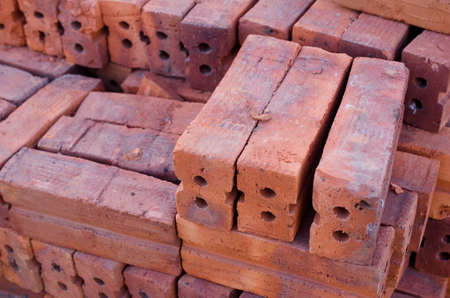 country store: Red brick stock for build Stock Photo