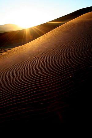 shaddow: Sand dunes at dusk