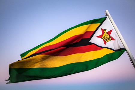 landlocked: Zimbabwe flag