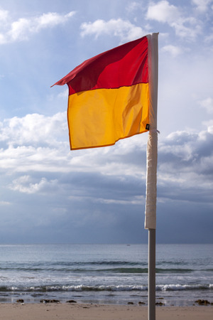 Swimming flags Stock Photo