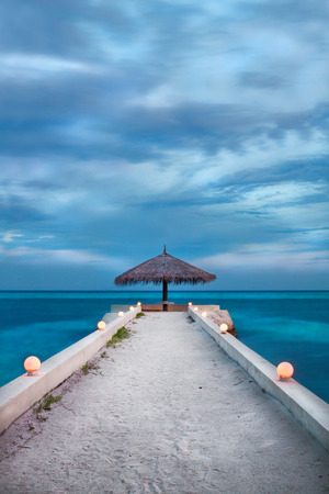 ocea: Maldivian pier Stock Photo