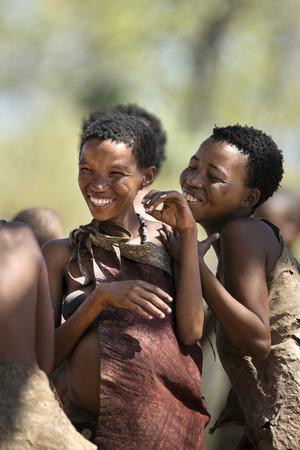 San Bushwomen singing & dancing