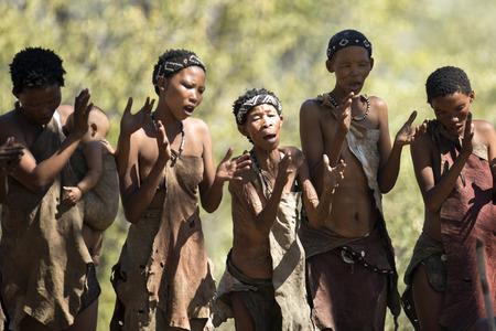 San Bushwomen singing