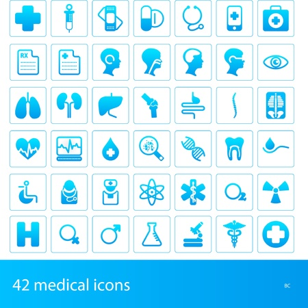 medical icons Stock Vector - 11159888