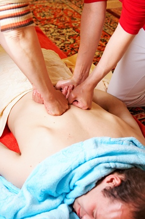 involves: Thai massage is a type of massage in Thai style that involves stretching and deep massage.
