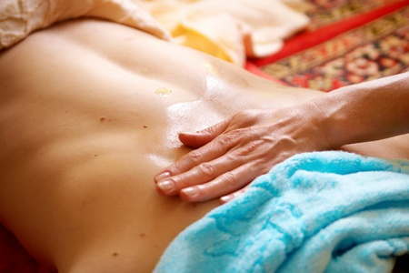 involves: Thai massage is a type of massage in Thai style that involves stretching and deep massage