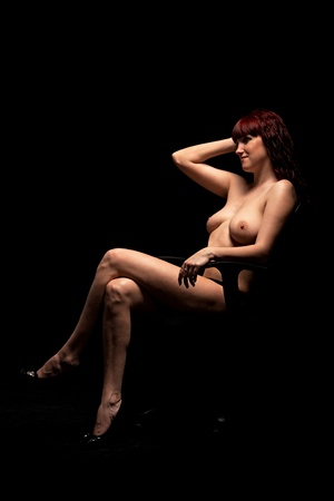 sexy women on black background Stock Photo