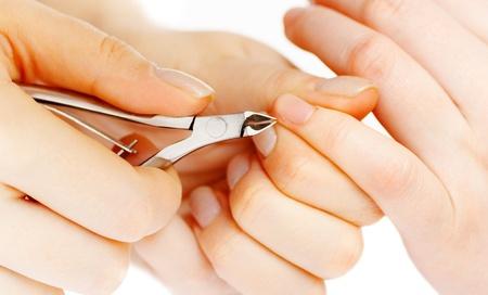 nipper: Studio nail - beautician polishing nails