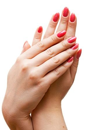 care for sensuality woman hands Banco de Imagens