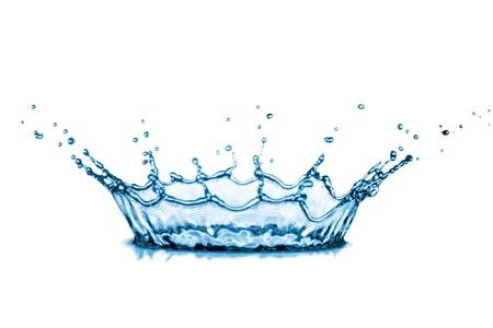 water splash on white background.