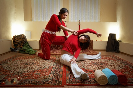 Thai massage is a type of massage in Thai style that involves stretching and deep massage. Stock Photo - 8840774
