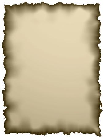 quemado: pieza de papel viejo