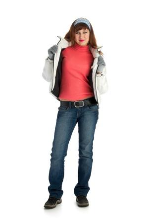 atheletic girl isolated on white background Stock Photo - 8842830