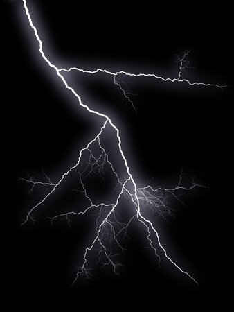 flash  lightnings on black background Stock Photo - 8841612