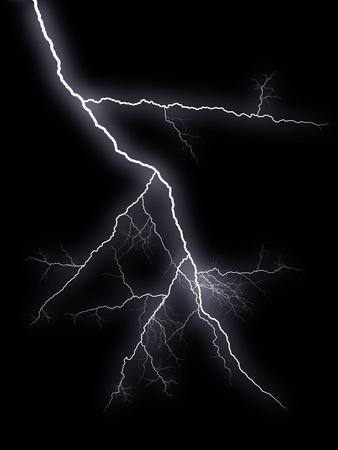 rayo electrico: Flash rel�mpagos en fondo negro