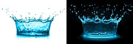water splash on white-black background photo
