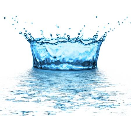 water splash on white background photo