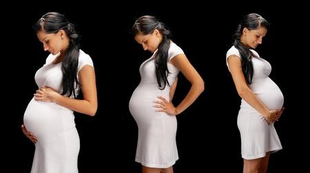 beauty pregnant on black background photo