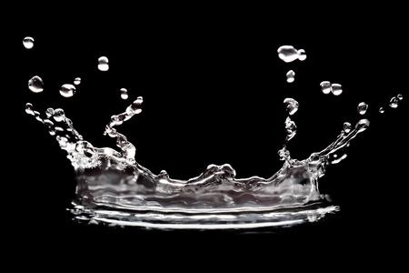 water splash on black background photo