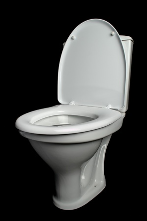 briliance: white lavatory pan on black background