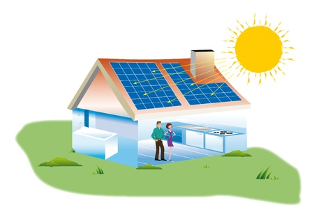 real estate purchase a home with solar panels photo