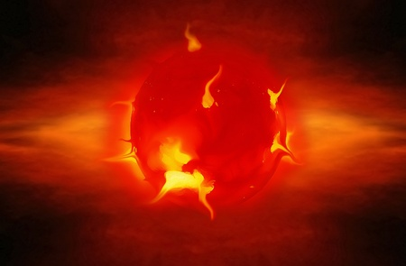 solar eruptions and explosions in space Stock Photo