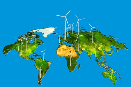 and wind power in the world to a sustainable energy or renewable energy photo