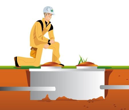 werken reiniging van de septic tank