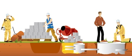 septic: workman of the building for real building work