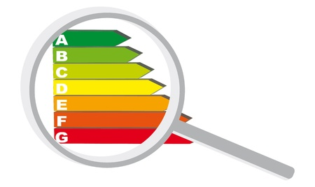 diagnostic: 7 color chart with a magnifying glass for a real diagnosis energy