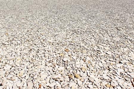 gravel embankments for roads or pedestrian walkways photo