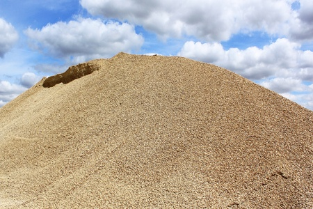 sand pit: a gravel dune in a sand pit Stock Photo