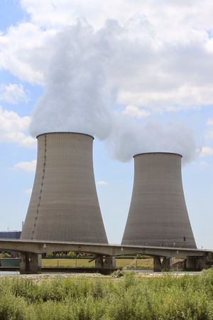 nuclear plant: nuclear power plant in operation for production of electrical energy