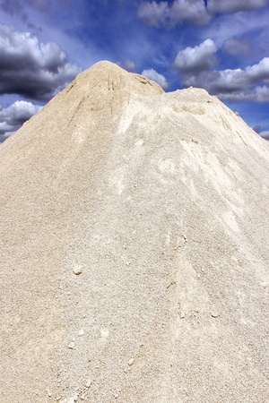 one of white sand in a sand pit photo