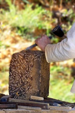 artisan stonecutter Medieval Stock Photo - 16428234
