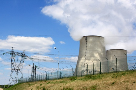 nuclear power plant in operation for production of electrical energy Stock Photo - 16596282