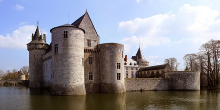 sully: a medieval castle with its moats, towers and dungeon