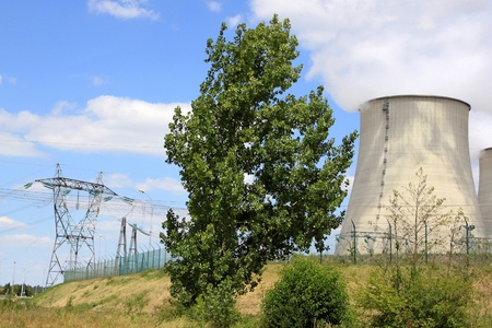 nuclear power plant in operation for production of electrical energy Stock Photo - 17205298