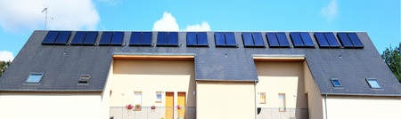 volte: more solar panels or photovoltaic panels on the roof of a house