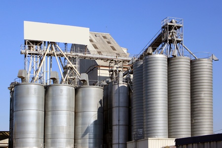 factory for the processing of cereals for food for cattle Stock Photo - 17997088