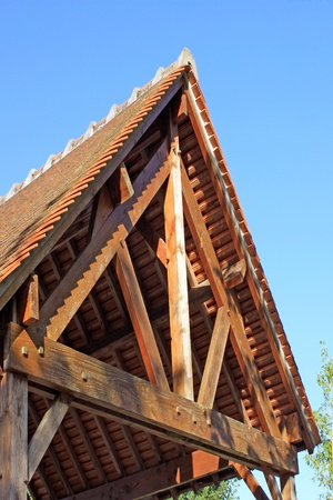 Natural wood construction of a house or business for an ecological energy isolation