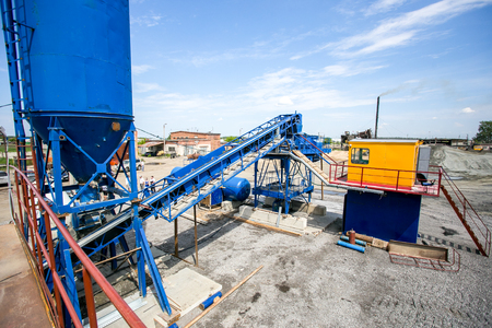 piling: Cement production in stone quarry, mini factory