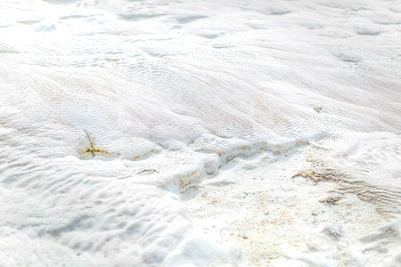 ruggedness: Patterned white limestone with different  ruggedness surface - Pamukkale, Turkey