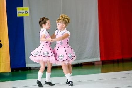 irish ethnicity: Omsk, Russia - August 22, 2015: International  competition of irish dance, li