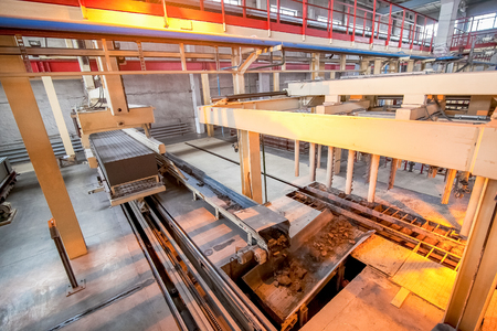 conveyor rail: automated production of aerated concrete blocks on a factory