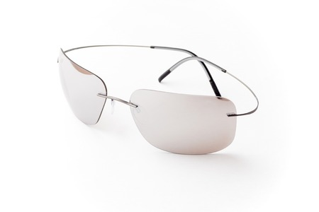 unisex: unisex gray sunglasses with brown lens isolated against a white background