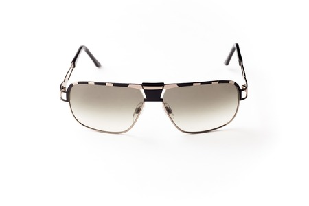 unisex: unisex sunglasses with gray lens isolated against a white background Stock Photo