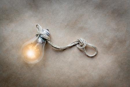 lit lamp: concept of idea illustration lit lamp close up