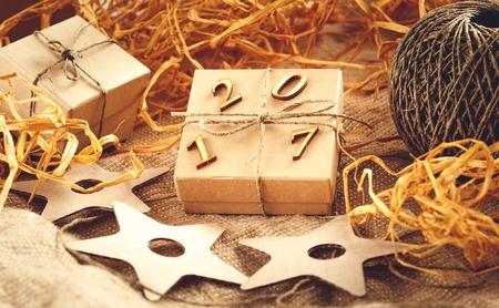Christmas craft gift box - New Year 2017.